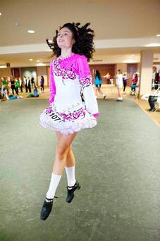 Liath McCreesh (12) at the World Irish Dancing Championship in Dublin