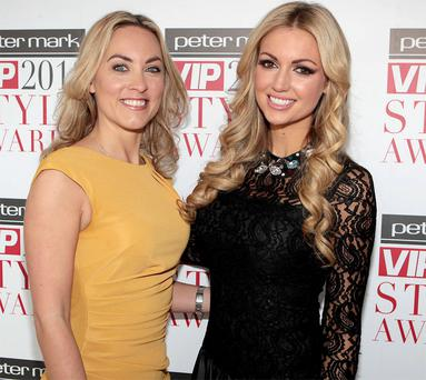 Kathryn Thomas and Rosanna Davison at the launch of the VIP style awards 2013