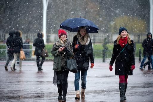 Heavy rain returned to the country after a weekend of warm weather