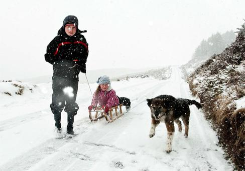 Eric and Aisling Dalby with dog Jessie at the Sally Gap near Roundwood, Co Wicklow;