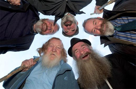 Some of the 'Beards of Ballymoe': from left, TomFlynn, Pat Diskin, Martin Costelloe, Tom Waldrom and John Griffin
