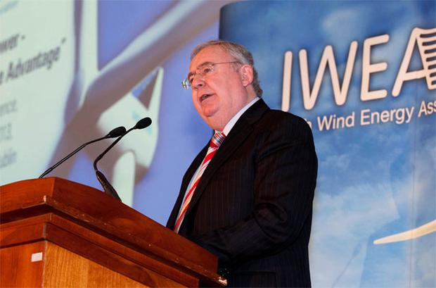 Pat Rabbitte addresses the Irish Wind Energy Association's annual conference at the Four Seasons Hotel in Dublin