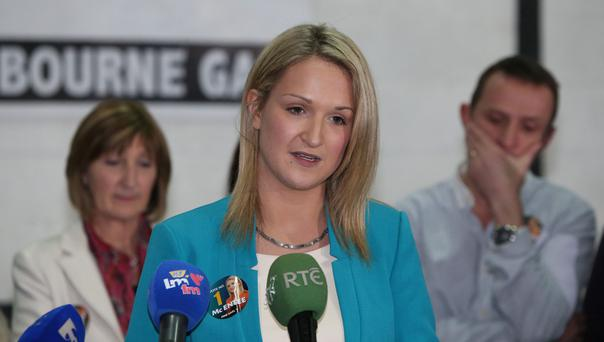 Our newest TD: Helen McEntee, with her mother Kathleen and uncle Andy McEntee after she won Meath East by-election. Photo: PA