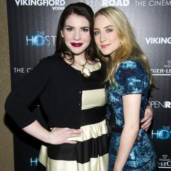 Stephenie Meyer with Saoirse Ronan at the screening of 'The Host' in New York yesterday