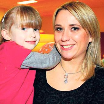 Orla Smith and her daughter Keela, aged four.
