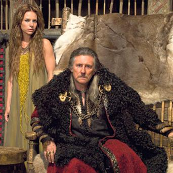 COSTUME DRAMA: Gabriel Byrne and Jessalyn Gilsig in 'Vikings', which is filmed here — such productions may dry up