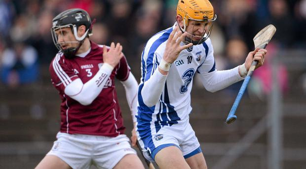 Maurice Shanahan, Waterford, reacts to a missed chance during the first half.