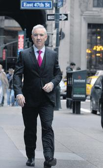 Sean Dunne pictured in New York over the weekend