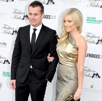 Shay Given and wife Jane at the Fashion Kicks event in 2011