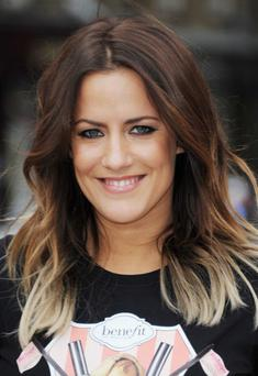 LONDON, UNITED KINGDOM - JUNE 29: Caroline Flack attends the Refuge & Benefit Mascarathon finishing line presentation at Old Spitafield Market on June 29, 2012 in London, England. (Photo by Stuart Wilson/WireImage)