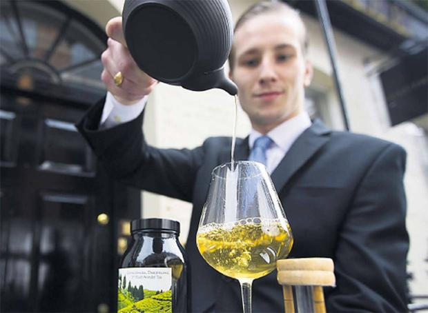 A speciality Darjeeling tea brewed at Gauthier Soho in London