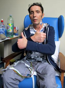Christy Dignam in the Coronary Care Unit in Beaumont Hospital