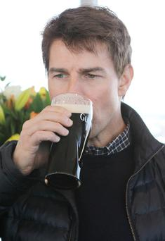 Tom took the time out of his hectic schedule to see how Guinness is made, how to pour the perfect pint and do a 'windows tour of the city' from the Gravity Bar.