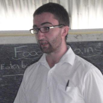 Cillian Crosson teaching in Guyana
