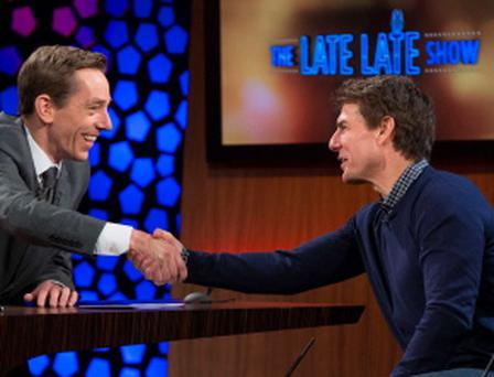 Ryan Tubridy with Tom Cruise on The Late Late Show
