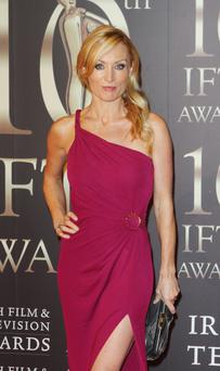 Victoria Smurfit, pictured at this year's IFTAs, is taking Hollywood by storm