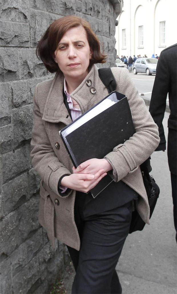 Dr Katherine Astbury at Galway Courthouse during the second day of the inquest into the death of pregnant Savita Halappanavar. Photo: PA