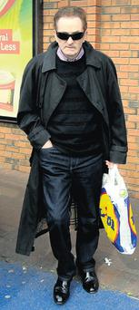 Kevin McGeever leaving the shop in Killester, Dublin