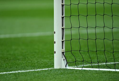 """General view of sensors for the goal-line technology """"Hawkeye""""."""