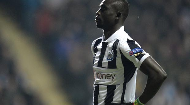 Newcastle United's Papiss Cisse stands dejected after a missed chance. Photo: PA