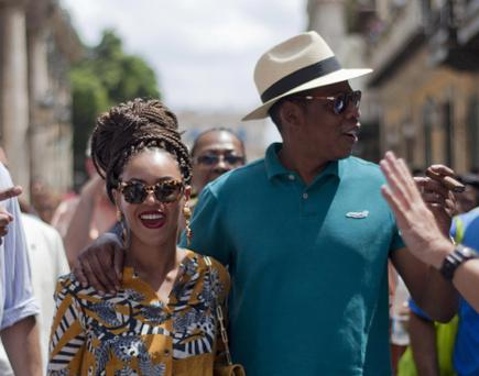 Beyonce and her husband, rapper Jay-Z, right, tours Old Havana last Thursday