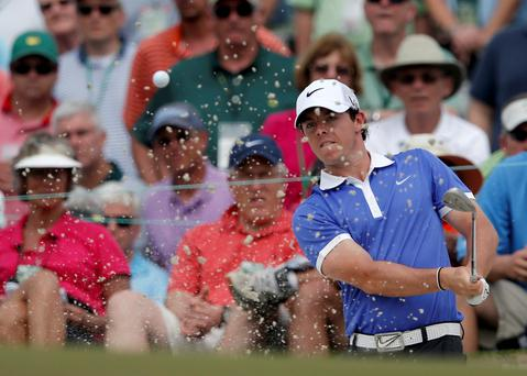 Rory McIlroy on Day One at Augusta