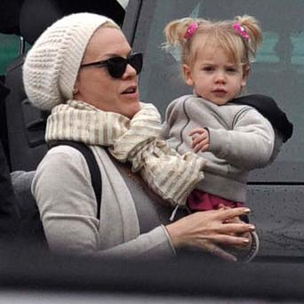 Pink pictured with her daughter Willow in Dublin in 2013