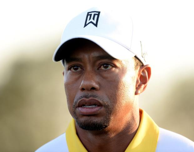 Tiger Woods in action at Augusta