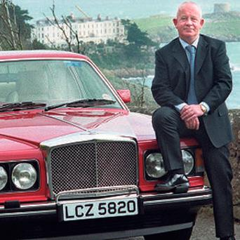 Solicitor Vincent O'Donoghue with his Bentley in Killiney a few years ago.