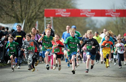 One of the two junior runs at the 11th Spar Great Ireland Run