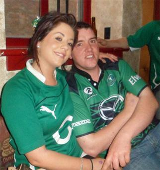 Gary Feeney, from Templeboy, Co Sligo, and his wife Kelly Melvin-Feeney