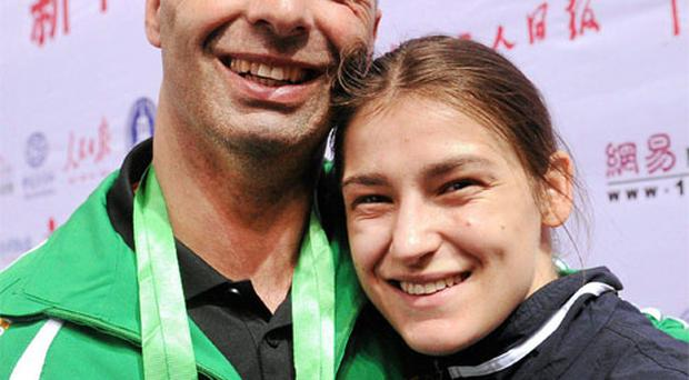 Olympic hero Katie Taylor with her father Pete