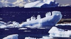 Ice fingers, Antartic peninsula