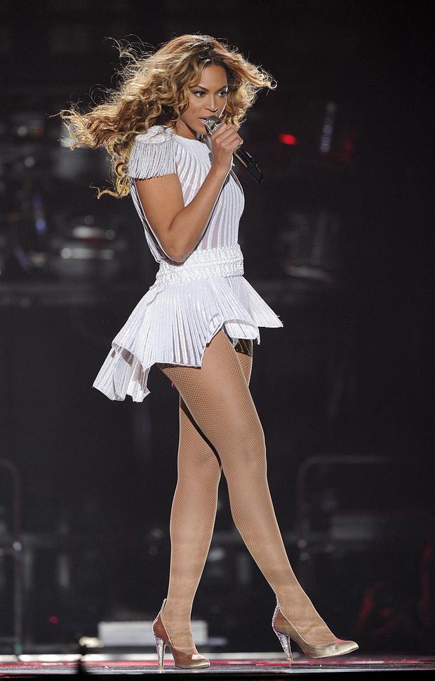 Singer Beyonce performs on the opening night of her