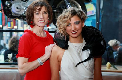 1983 Rose of Tralee winner Brenda Hyland Beirne with her daughter Alannah at the Vodafone DIT awards at Vicar Street, Dublin, last night