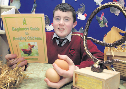 Students Enterprise winner Andrew Butler with his book
