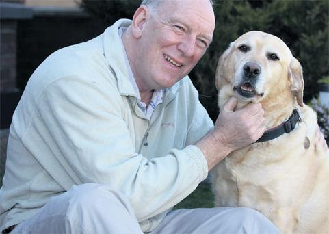 Gerry with his dog Orva