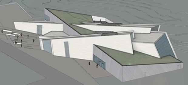 Artist's impression of how the Peace Building and Conflict Resolution Centre at the Maze near Lisburn will look.
