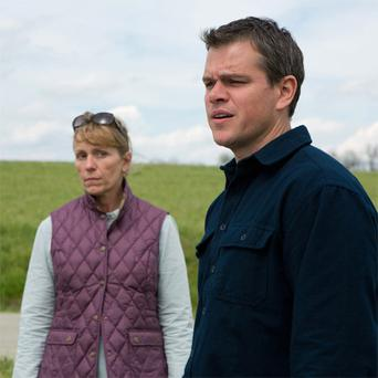 Matt Damon and Frances McDormand in Promised Land.