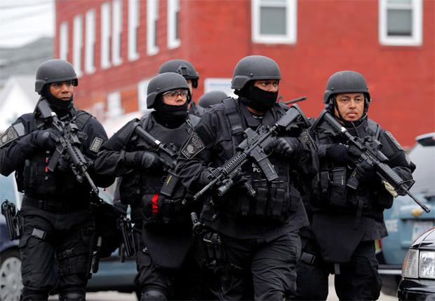 A number of towns in the greater Boston area are on lockdown after last night's dramatic events. The Boston suburb of Watertown, where the police shootout took place is now being evacuated as the police presence continues.