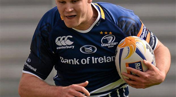 Jonathan Sexton in full flow on his return to action against Zebre yesterday