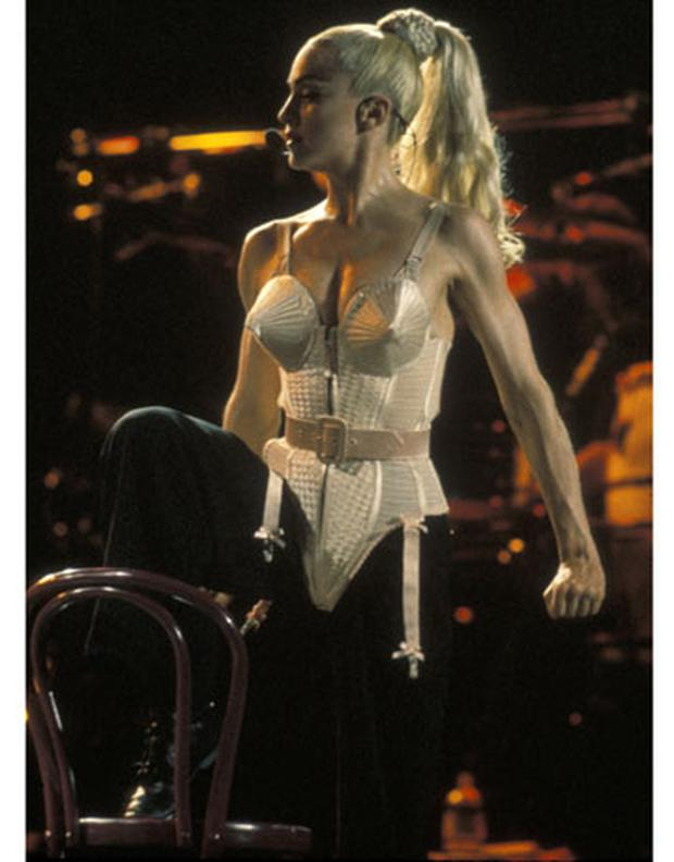 Madonna's Jean Paul Gaultier-designed corsets from her 1990 Blonde Ambition concert tour