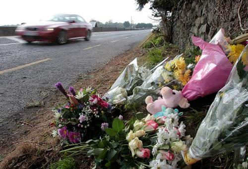 The scene where Kate Gilmore (2) and her three-month-old sister Grace were killed in Tuam, Co Galway