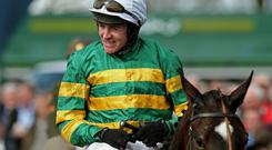 Jezki ridden by Barry Geraghty celebrate winning the Herald Champion Novice Hurdle (Grade 1) during the 2013 Festival at Punchestown. Picture: Julien Behal/PA Wire.