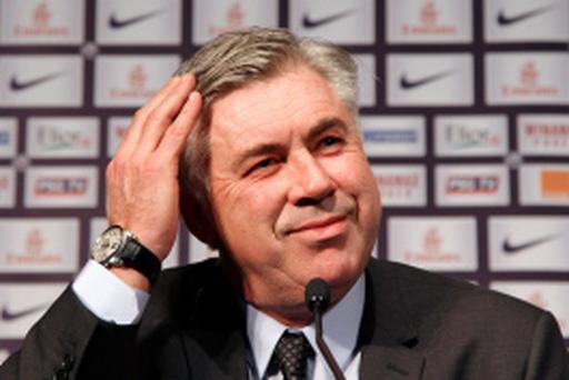 Paris St Germain coach Carlo Ancelotti