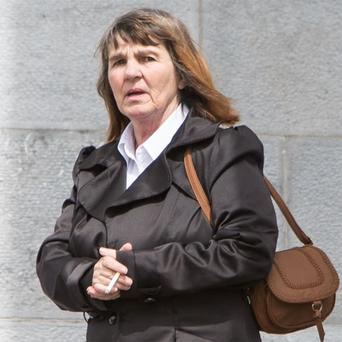 Josephine O'Brien, who is accused of 10 charges of stealing money from Stephen O'Halloran (87)
