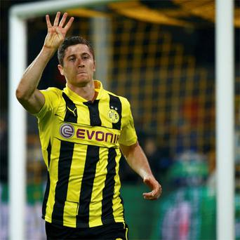 Robert Lewandowski has only a year left to run on his contract at Dortmund