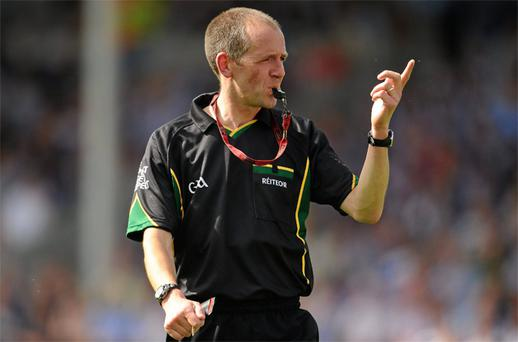 Referee Cathal McAllister