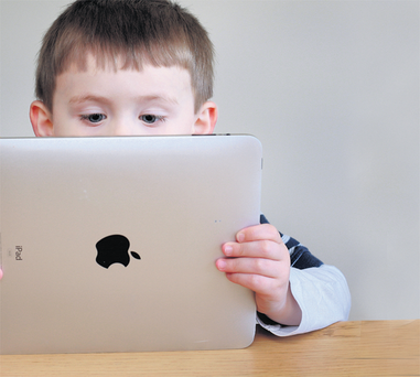 Ed Power's three year old son Niall has grown up with the ipad.