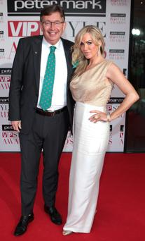 Gerald Keane and Lisa Murphy arrives at the Peter Mark VIP Style Awards at the Marker Hotel Dublin. Picture: Brian McEvoy